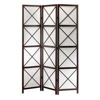 Decor/Accessories - Adesso Lighting WK3802-15 Room Divider Privacy Screen, Dark Walnut , Transitional Room Divider Privacy Screens by Adesso Lighting - divider, screen, geometric