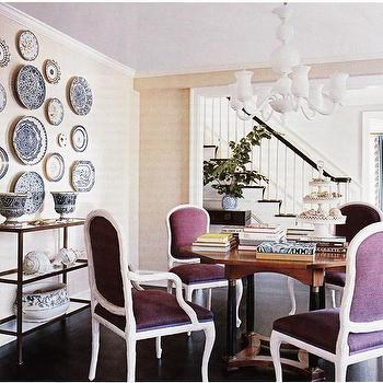 Purple Dining Chairs, Contemporary, dining room