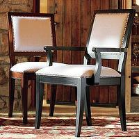 Seating - Nail-Head Chair | Pottery Barn - nail head trim, nailhead trim, chair