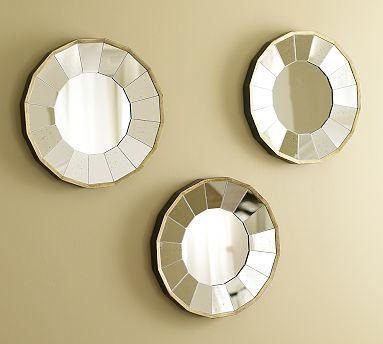 Mirrors - Rhona Round Gilt Mirrors, Set of 3 | Pottery Barn - mirrors