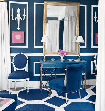 Blue & White Bedroom Domino Magazine