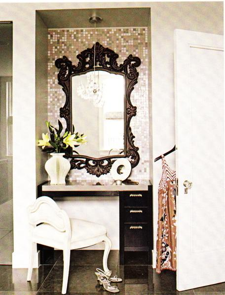 Rococo Mirror - Contemporary - bedroom