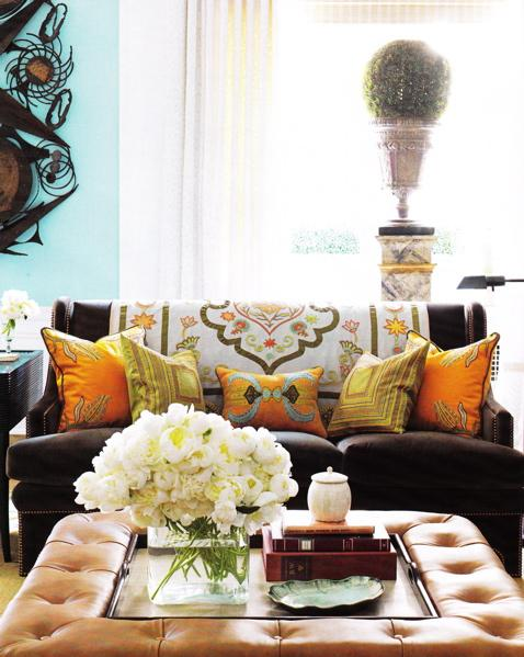 Living room for Orange and yellow living room ideas
