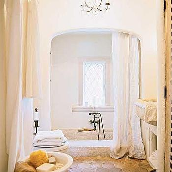 Hex Terracotta Tiles, Mediterranean, bathroom