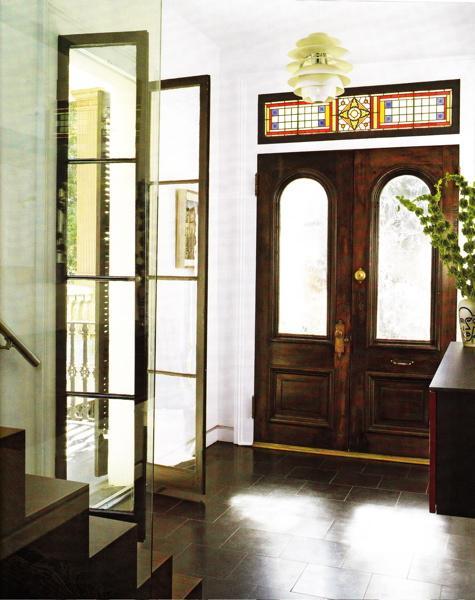Glass Foyer Doors : Glass bi fold doors eclectic entrance foyer