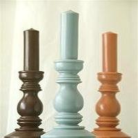 Decor/Accessories - Simple Pillar Candles by India Rose in Various Colors - pillar candles, candle holders