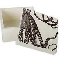 Decor/Accessories - Octopus Alabaster Lacquer Box by Thomas Paul - alabaster, lacquer, box, Thomas Paul