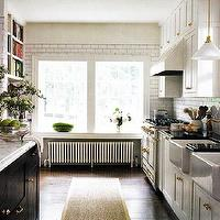kitchens - double sinks, double kitchen sinks, farmhouse sink, double farmhouse sink, two tone kitchen, kitchen runner, sisal runner, sisal kitchen runner,