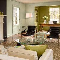 Painted Floors Eclectic Living Room Domino Magazine