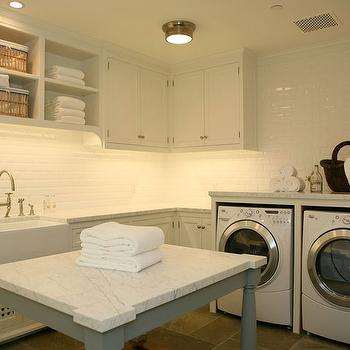 White Laundry Room Cabinets, Transitional, laundry room, Giannetti Home