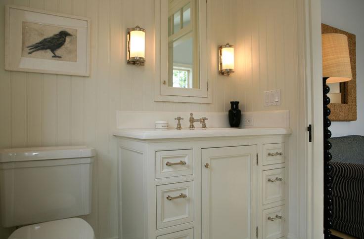 f White Bathroom Cabinets Cottage bathroom