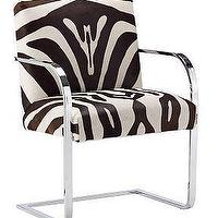 Seating - Williams-Sonoma Home | Gibson Zebra Armchair - zebra, chair