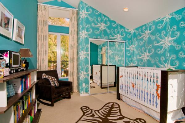 Octopus Stencil Contemporary Nursery