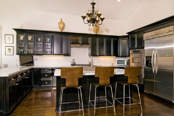 T Back Bar Stools - Contemporary - kitchen