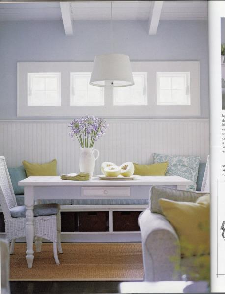 This that and life i am in love with built ins - Built in banquette dining sets ...