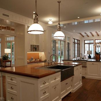 Island with Butcher Block Top, Transitional, kitchen, Giannetti Home