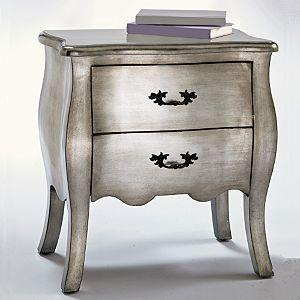 Storage Furniture - Silver Leaf Bombe Chest - Storage - small bombe chest,