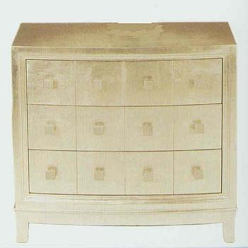 Storage Furniture - Silver Leaf 3 Drawer Chest - silver, leaf, chest