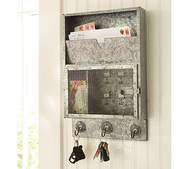 Galvanized Metal Key Cabinet Pottery Barn