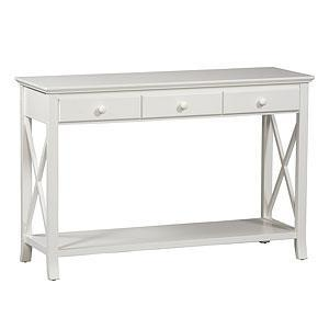 Tables - Save on the Woodbridge Lustrous White Console Table at SmartBargains.com - White Console Table