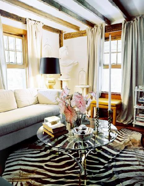 Linen Curtains Transitional living room Lonny Magazine