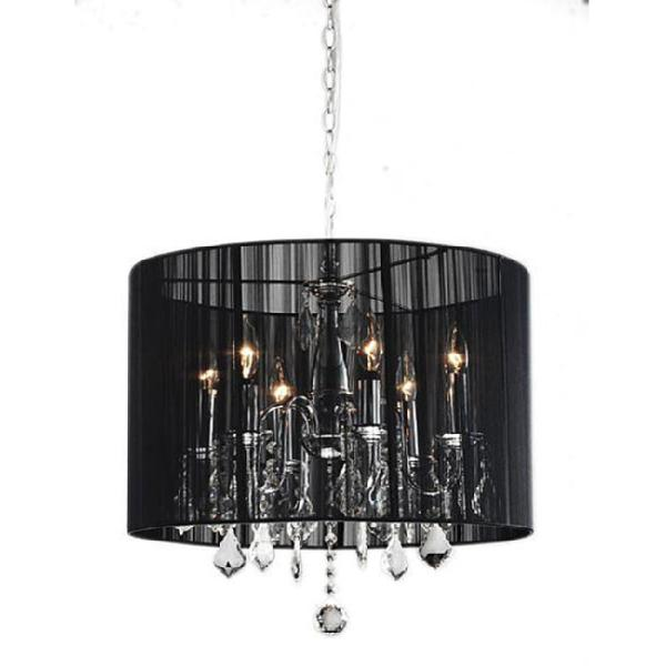 crystal string fabric chandelier look 4 less