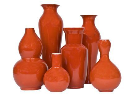 Decor/Accessories - Jayson Home & Garden :: accessories :: vases :: PERSIMMON VASES - vases, vase, orange
