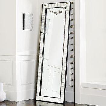 Mirrors - Antique Tiled Floor Mirror | west elm - floor mirror