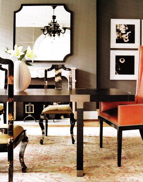 Taupe Dining Room - Contemporary - dining room