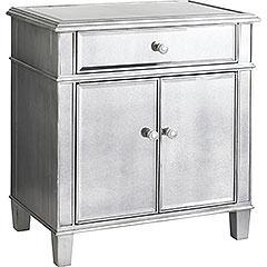 Storage Furniture - Pier 1 Imports - Hayworth Bedside Chest - mirrored, chest