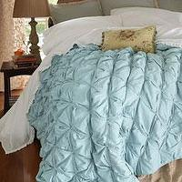 Bedding - Ingrid Smocked Quilt - Hand Smocking - Embroidery | SoftSurroundings.com - bedding