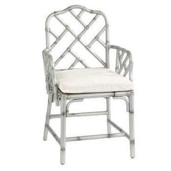 Seating - Ballard Designs - faux bamboo chair, silver