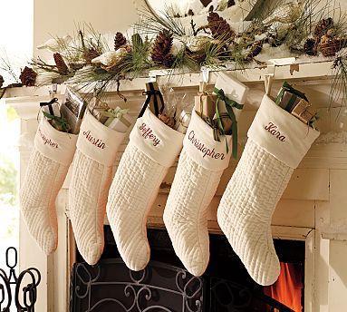 Personalized Christmas Stockings Of Velvet Velour Tattoo