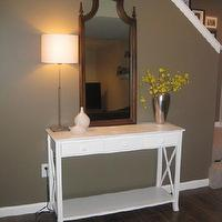 basements - mirror,  console table in basement... new (old) craigslist mirror