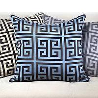 Pillows - Athens Pillow 21 - silk, pillow, blue