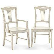 Seating - JCPenney : furniture : dining room : dining chairs - dining chair, white, cream, antique