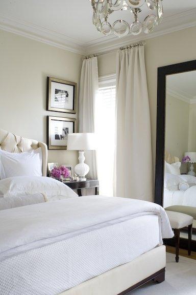 Cream Tufted Headboard Contemporary Bedroom Mcgill