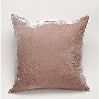 Pillows - UrbanOutfitters.com > Velvet Linen Pillow - velvet, mauve, pink, pillow