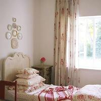 girl's rooms - shabby chic bedroom, chintz bedding, decorative wall plates, chintz curtains, chintz drapes, shabby chic bedroom ideas,  Shabby