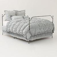 Bedding - Cirrus Duvet�? -�? Anthropologie.com - gra, ruched, duvet, bedding