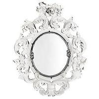 Mirrors - Z Gallerie - Clarity Mirror - ornate white mirror baroque rococco