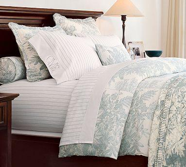 Matine Toile Duvet Cover Amp Sham Powder Blue Pottery Barn