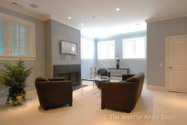basement family room contemporary basement