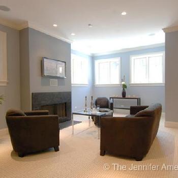 Basement Family Room, Contemporary, basement