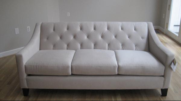 miscellaneous - Sherwin, Williams, Modern, Grey,  Chloe velvet metro sofa from Macy's.
