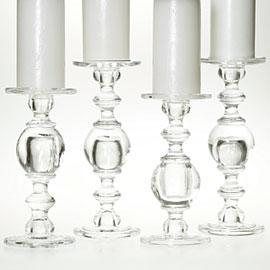 Caprise Pillar Holders, Clear, Z Gallerie