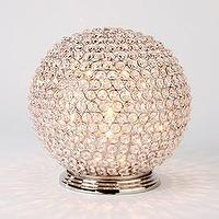 Decor/Accessories - Bling Globe Hurricane | Z Gallerie - candle holder, crystal, pillar