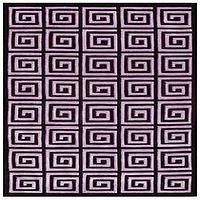 Rugs - Roman Maze Purple Handmade Rug | LampsPlus.com - rug, black, purple