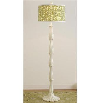 Lighting - Fleurette Floor Lamp Base- Assembly required Was $150 - Shades of Light - white, floor lamp