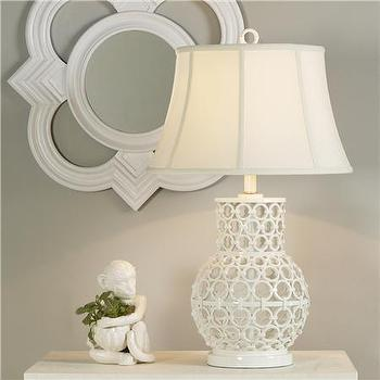 Lighting - Mariee Table Lamp - Shades of Light - lamp, table lamp, white